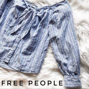 FREE PEOPLE Tie Top Blouse